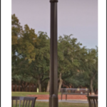 A picture of a light pole